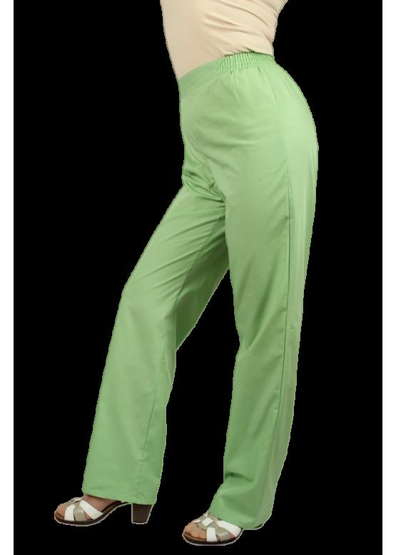 Удобные брюки зеленого цвета, (35%хлопок, 65% п/э). производство : Россия.