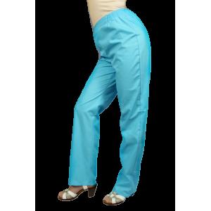 Красивые медицинские брюки бирюзового цвета Б-10