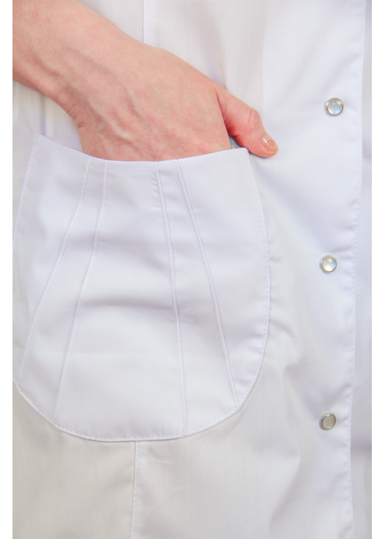 Мед халат Х-230 белый, из ткани ТиСи