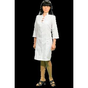 Белый молодежный медицинский халат Х-102