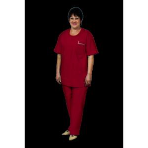 Костюм хирурга женский, бордовый, К-12-Б