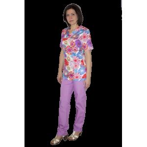 Цветной медицинский костюм К-903/1