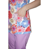 Медицинский костюм К-909 из мягкой, тянущейся цветной ткани поплин.