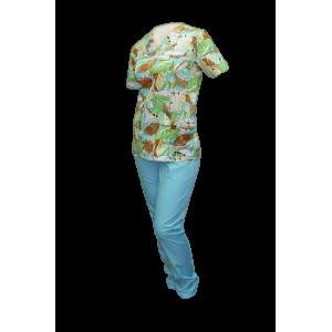 Цветной медицинский костюм К-903/3