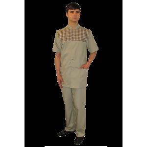 Молодежный мужской медицинский костюм К-092