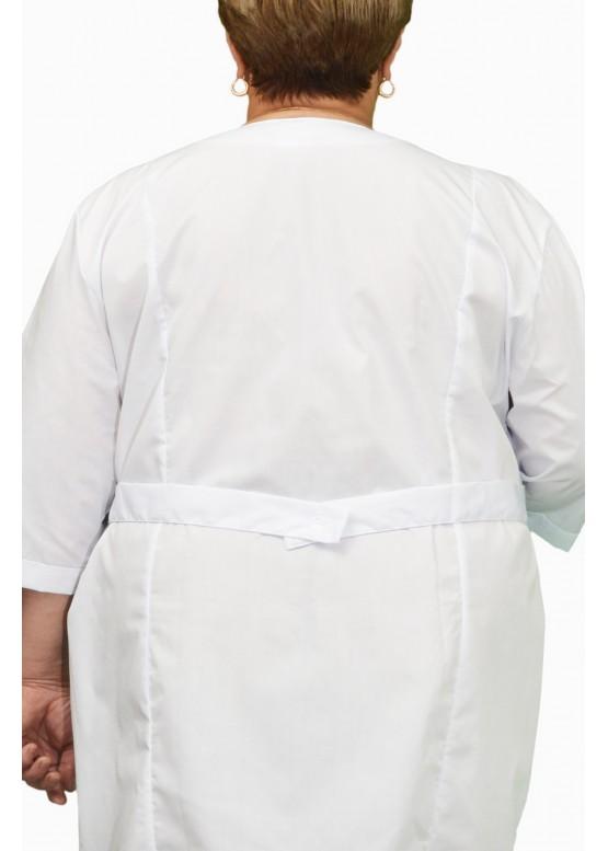 Элегантный медицинский халат на молнии