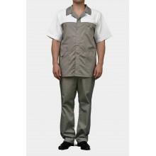 Медицинский костюм К-203-Белый-Серый